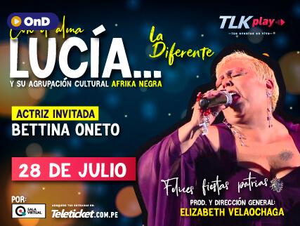 SALA VIRTUAL PRESENTA: ¡CON EL ALMA...LUCÍA!