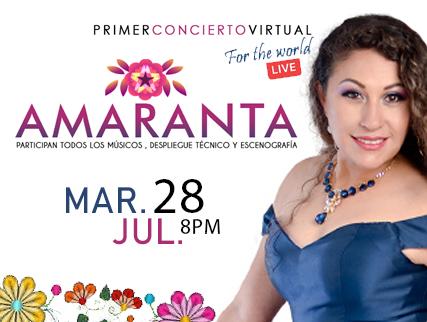 AMARANTA - FOR THE WORLD - LIVE