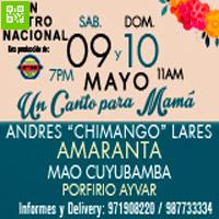 """ANDRÉS """"CHIMANGO"""" LARES 45 AÑOS & UN CANTO PARA MAMÁ GRAN TEATRO NACIONAL - SAN BORJA - LIMA"""