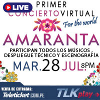 AMARANTA - FOR THE WORLD - LIVE STREAMING TLK PLAY - LIMA