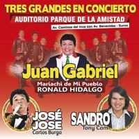 TRES GRANDES EN CONCIERTO AUDITORIO PARQUE DE LA AMISTAD - SANTIAGO DE SURCO - LIMA