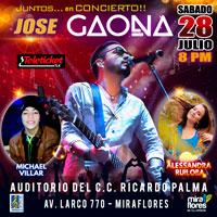 JUNTOS EN CONCIERTO!! GAONA, ALE RUILOBA, MICHAEL AUDITORIO DEL C.C. RICARDO PALMA - MIRAFLORES - LIMA