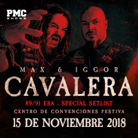 MAX & IGGOR CAVALERA 89/91 ERA - SPECIAL SETLIST CENTRO DE CONVENCIONES FESTIVA - LIMA