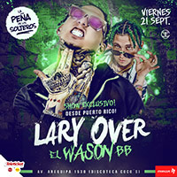 """LARY OVER """"EL WASON BB""""  EN CONCIERTO LA PEÑA DE LOS SOLTEROS - LIMA"""