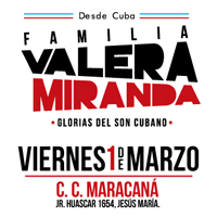 DESDE CUBA: FAMILIA VALERA MIRANDA EN LIMA MARACANA CENTRO DE CONVENCIONES - LIMA