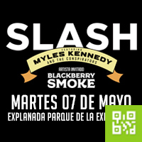SLASH FT. MYLES KENNEDY & THE CONSPIRATORS EXPLANADA DEL PARQUE DE LA EXPOSICION - LIMA