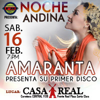 NOCHE ANDINA PRESENTACION 1° DISCO AMARANTA CENTRO DE CONVECIONES CASA REAL - LIMA