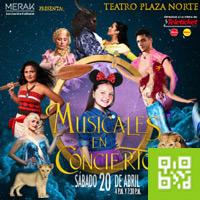 MUSICALES EN CONCIERTO TEATRO PLAZA NORTE - INDEPENDENCIA - LIMA