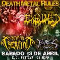 DEATH METAL RULES CENTRO DE CONVENCIONES FESTIVA - LIMA