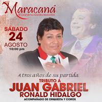 TRIBUTO A JUAN GABRIEL - Maracaná MARACANA CENTRO DE CONVENCIONES - JESUS MARIA - LIMA