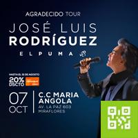 JOSÉ LUIS RODRÍGUEZ EL PUMA EN LIMA CENTRO DE CONVENCIONES MARÍA ANGOLA - MIRAFLORES - LIMA