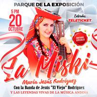 LA MISKI Y LAS LEYENDAS VIVAS DE LA MUSICA ANDINA PARQUE DE LA EXPOSICION - LIMA