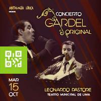 CONCIERTO CARLOS GARDEL ORIGINAL TEATRO MUNICIPAL DE LIMA - LIMA