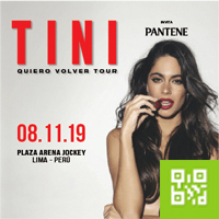 TINI - QUIERO VOLVER TOUR PLAZA ARENA JOCKEY - SANTIAGO DE SURCO - LIMA