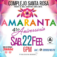 AMARANTA - CONCIERTO DE ANIVERSARIO COMPLEJO SANTA ROSA - FRENTE AL MALL SANTA ANITA - - SANTA ANITA - LIMA