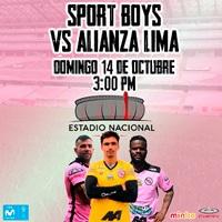 SPORT BOYS VS ALIANZA LIMA - CLAUSURA 2018 ESTADIO NACIONAL - LIMA