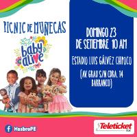 PICNIC DE MUÑECAS BABY ALIVE ESTADIO LUIS GÁLVEZ CHIPOCO DE BARRANCO - LIMA