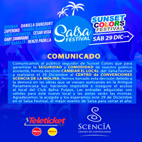 SALSA FESTIVAL - SUNSET COLORS CENTRO DE CONVENCIONES SCENCIA - LIMA