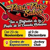 FERIA PERU PURO SABOR CENTRO DE EXPOSICIONES DEL JOCKEY CLUB - LIMA