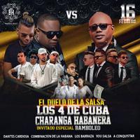 EL DUELO DE LA SALSA LOS 4 DE CUBA VS LA CHARANGA CLUB LAWN TENNIS - JESUS MARIA - LIMA