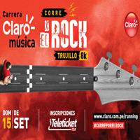 CARRERA CLARO MUSICA - CORRE X EL ROCK TRUJILLO 8K REAL PLAZA TRUJILLO - TRUJILLO