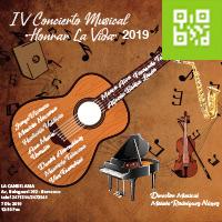 HONRAR LA VIDA - IV CONCIERTO MUSICAL LA CANDELARIA - BARRANCO - LIMA