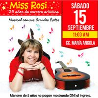 MISS ROSI-GRANDES EXITOS 25 AÑOS DE CARRERA CENTRO DE CONVENCIONES MARIA ANGOLA - MIRAFLORES - LIMA