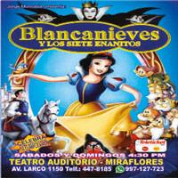 BLANCANIEVES Y LOS 7 ENANITOS TEATRO AUDITORIO MIRAFLORES - MIRAFLORES - LIMA