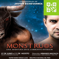 MONSTRUOS. UNA AVENTURA EN EL LABERINTO INTERIOR TEATRO MARIO VARGAS LLOSA - BNP - SAN BORJA - LIMA