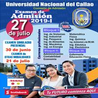 PROSPECTO CALLAO 2019 - I UNIVERSIDAD NACIONAL DEL CALLAO - CALLAO - PROV. CONST